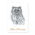 Bild 2 von For the love of...Stamps by Hunkydory - It's A Cat's Life Clear Stamp - Blue Persian
