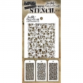 Tim Holtz Collection Schablone Mini Layering Stencil Set #35