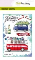 CraftEmotions Stempel - clearstamps A6 - x-mass cars 2 Carla Creaties