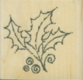 Gummistempel Tapestry Holly