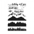 Hero Arts Color Layering Clear Stamps - Mountains At The Lake