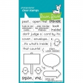 Lawn Fawn Clear Stamps  - Open Me