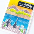 Bild 2 von Hero Arts Color Layering Clear Stamps - Mountains At The Lake