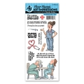 Art Impressions Clearstamps Proud Nurse Set