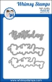 Stanzschablone Whimsy Stamps Birthday Word and Shadow Die Set - Geburtstag