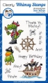 Whimsy Stamps Clear Stamps  - Arrgg! Pirates - Pirat