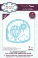 Creative Expressions Craft Die Stanze - Fillables Collection Hot Air Balloon Snow Globe Scene Die