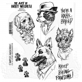 The Art of Brett Weldele Cling Mount Stamps Gummistempel: Woofpack