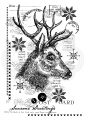 WOODWARE Clearstamps  Clear Magic Singles - Vintage Deer - Rentier