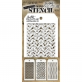 Tim Holtz Collection Schablone Mini Layering Stencil Set #12