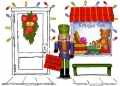 Art Impressions Stempelgummi Door Ways Christmas Toy Shoppe