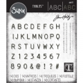 Bild 1 von Sizzix Thinlits Dies Stanzschablone By Tim Holtz Alphanumeric Label