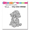 Stampendous Cling Rubber Stamps - Mushroom Gnome Rubber Stamp