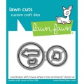 Lawn Fawn Cuts  - Stanzschablone Reveal Wheel Circle Sentiments