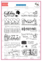 The Stamping Village - Happy Birthday - Clear stamp Set