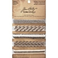 Tim Holtz idea-ology Bändchen Trimmings Natural, Black & Cream