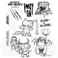 The Art of Brett Weldele Cling Mount Stamps Gummistempel - Party Animals
