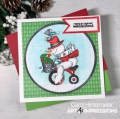 Bild 3 von Art Impressions Clear Stamps with dies Snowman Wheelie