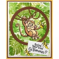 Bild 8 von Stampendous! Monkey Cling Rubber Stamps And Cutting Dies Set - Stempel mit Stanzen Affe