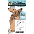 Art Impressions Clearstamps  und Stanzen - Twist Ties Stamp & Die Set - Dog