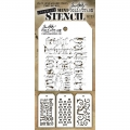 Tim Holtz Collection Schablone Mini Layering Stencil Set #23