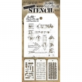 Tim Holtz Collection Schablone Mini Layering Stencil Set #15