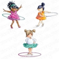 Gummistempel Stamping Bella Cling Stamp TINY TOWNIE HULA HOOPERS RUBBER STAMPS