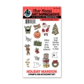 Art Impressions Clearstamps Stanze Holiday Mansion Accessory Set