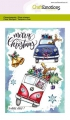 CraftEmotions Stempel - clearstamps A6 -  x-mass cars 1 Carla Creaties