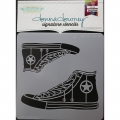 Donna Downey Signature Stencils Schablone  High Top