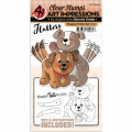 Art Impressions Clearstamps & Stanz-Set - Flutters Stamp & Die Set - Puppies