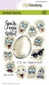 CraftEmotions Stempel - clearstamps A6 - Egg faces Carla Creaties
