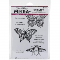 Dina Wakley Media Cling Stamps - Scribbly Insects