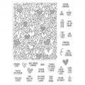 Hero Arts Color Layering Clear Stamps - All My Heart Peek-A-Boo Parts