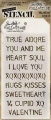 Tim Holtz Collection Schablone Layering Stencil Valentine