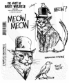 The Art of Brett Weldele Cling Mount Stamps Gummistempel - Meow & Tweets