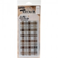 Tim-Holtz-Collection-Schablone-Layering-Stencil-Plaid