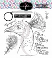 Colorado Craft Company Clear Stamps - Big & Bold~Hope Sings Peacock