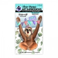 Art Impressions Clear Stamps Sloth Pop-Ups - Pop-Up Faultier - Stempelset inkl. Stanzen