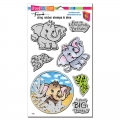 Stampendous! Elephant Cling Rubber Stamps And Cutting Dies Set - Stempel mit Stanzen Elefant