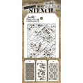Tim Holtz Collection Schablone Mini Layering Stencil Set #04