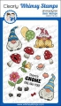 Whimsy Stamps Clear Stamps  - Gnomies