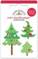 Mini doodle-pops Cardstock-Sticker Tiny pines