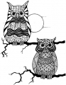 Clearstamps Zendoodles Owl Buddies Ready To Go